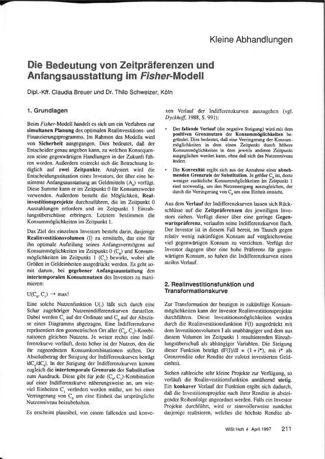 Breuer  Schweizer WiSt 1997