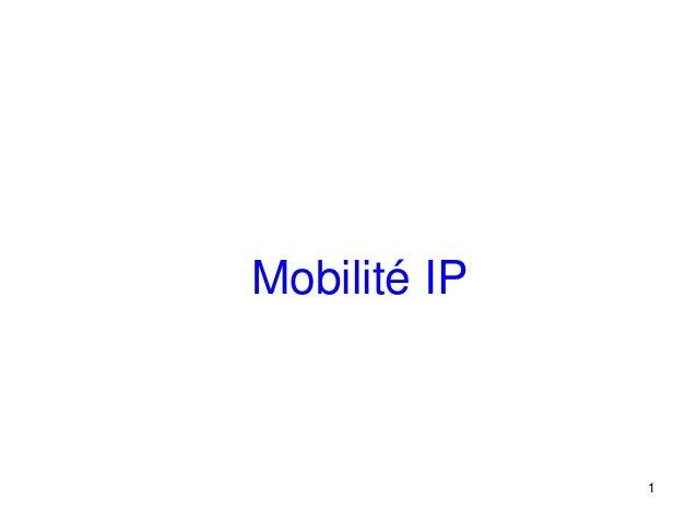 Mobilité IP              1