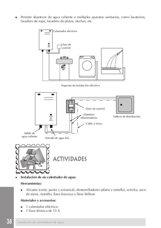 Manual de instalacion sanitaria for Instalacion calentador gas