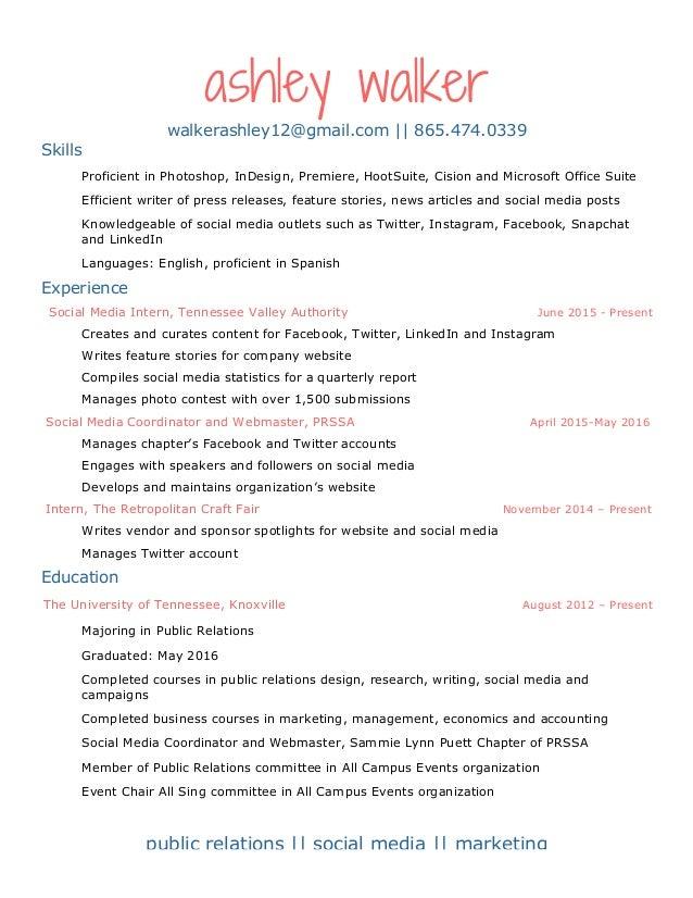 walker resume