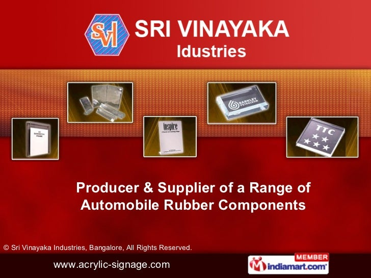 Sri Vinayaka Industries Karnataka  India