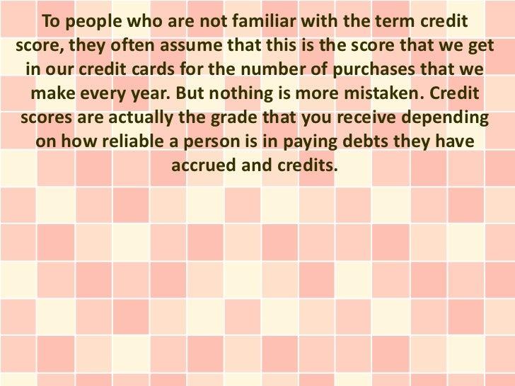 Details About Credit Scores