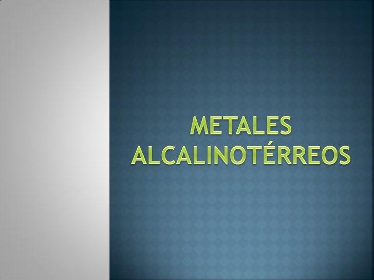 MetalesAlcalinotérreos