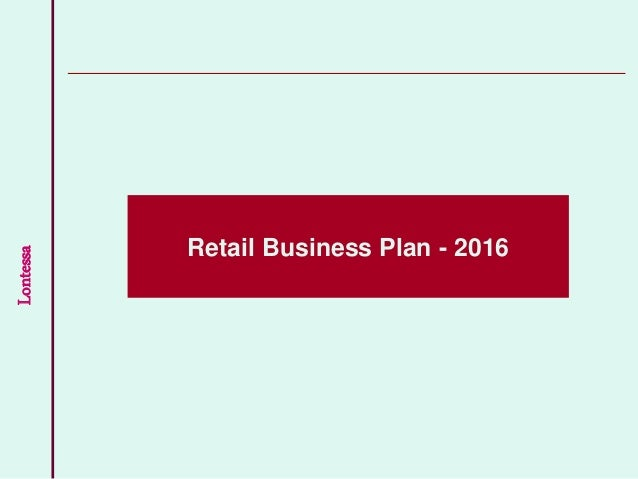 Business plan in retail sector