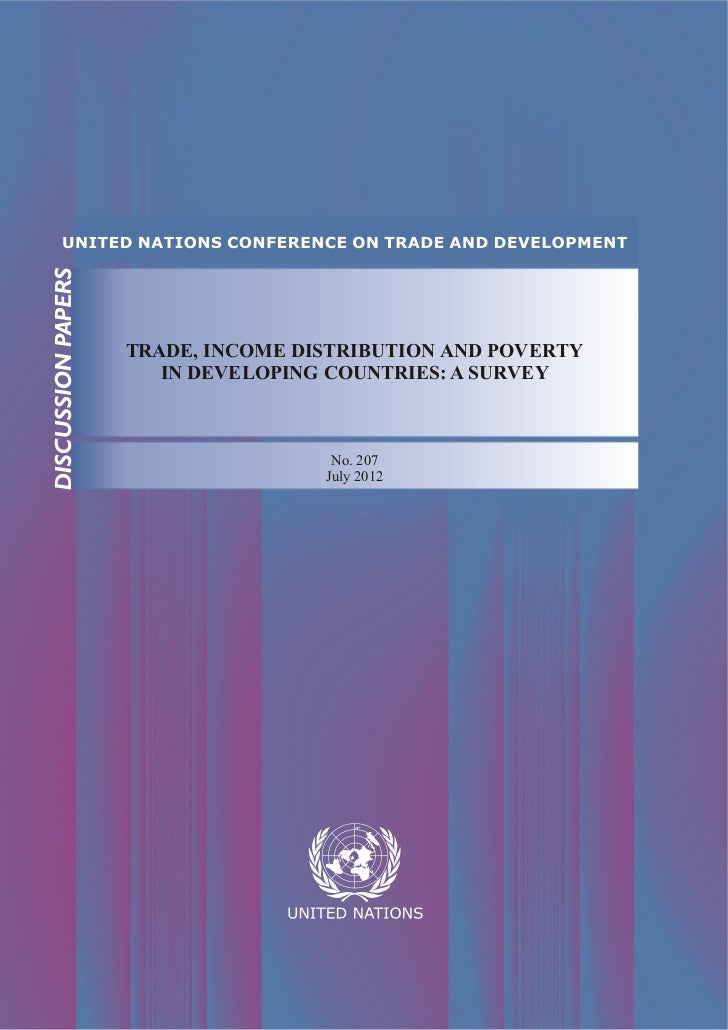 UNCTAD - Trade, Income Distribution and Poverty in Developing Countries: A Survey