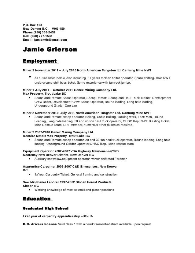 resume 2015 short form
