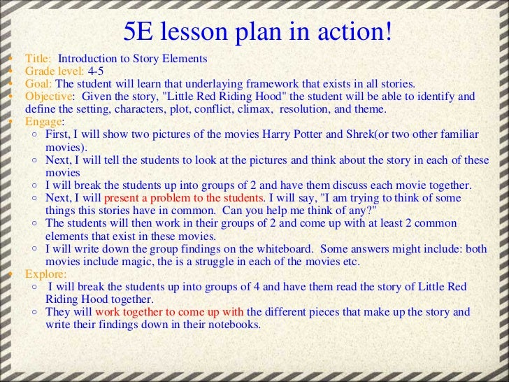 The 5e Lesson Plan Is An Extremely Useful Way Of Planning The