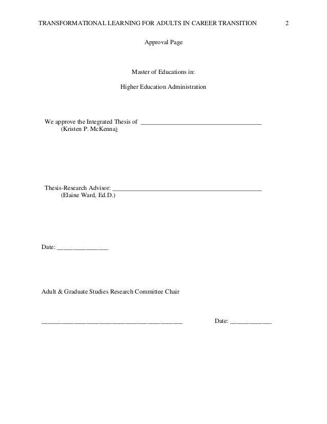Adult education dissertation