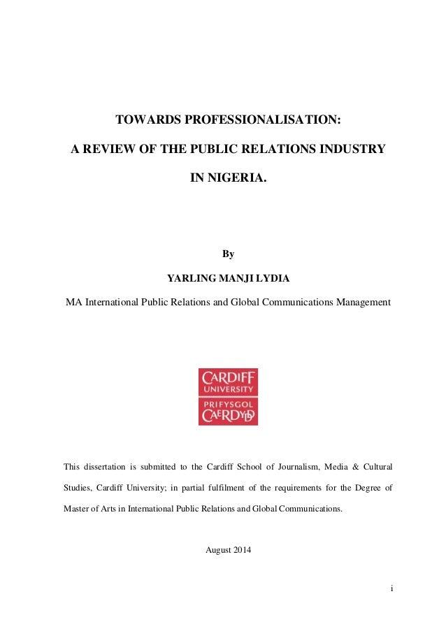 public relations dissertation