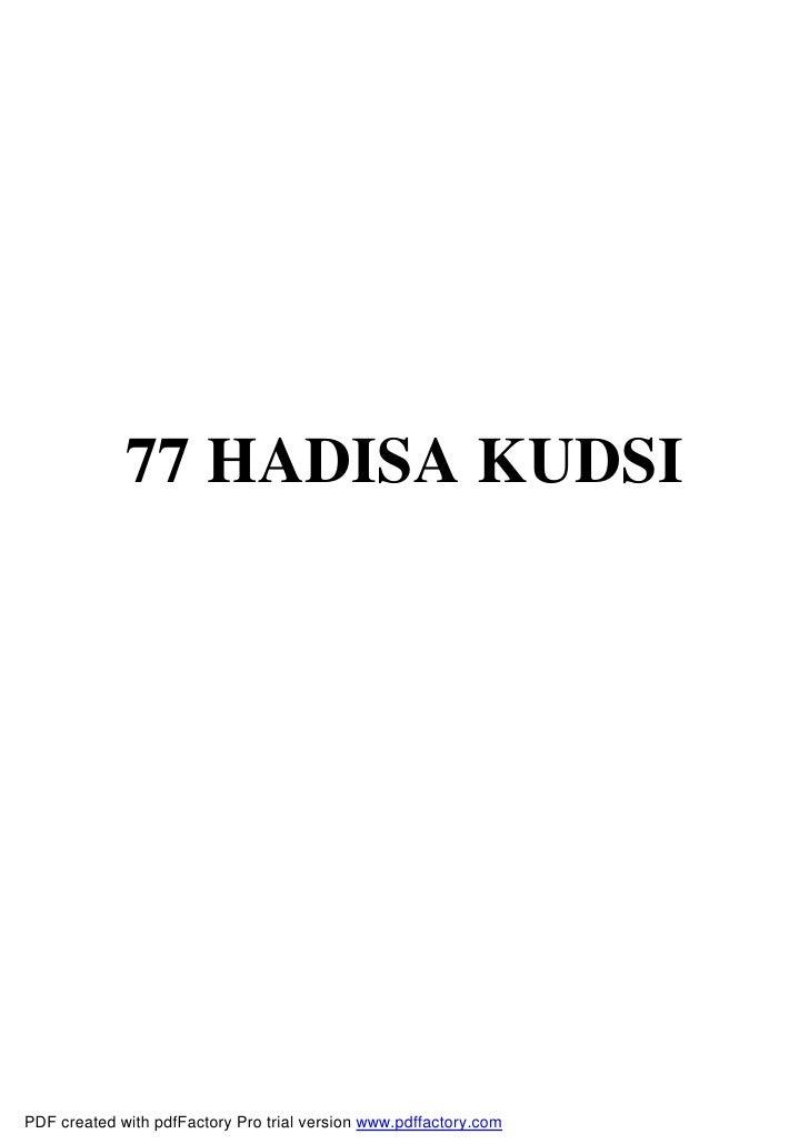 77 hadisa kudsi