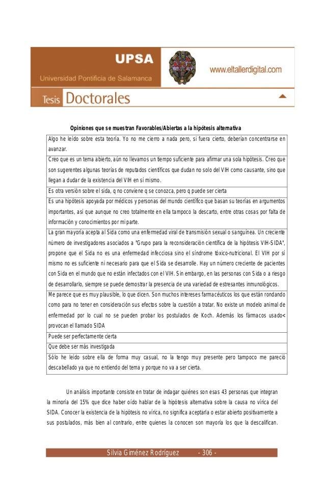 Silvia Giménez Rodríguez - 306 - Opiniones que se muestran Favorables/Abiertas a la hipótesis alternativa Algo he leído so...
