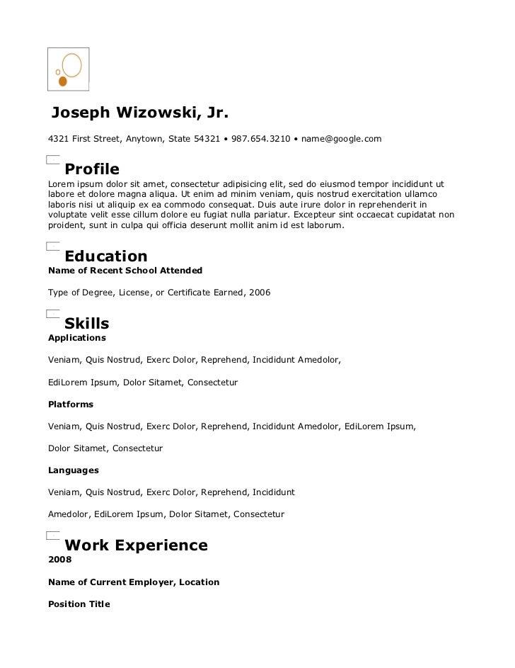 Copy of Circles Resume