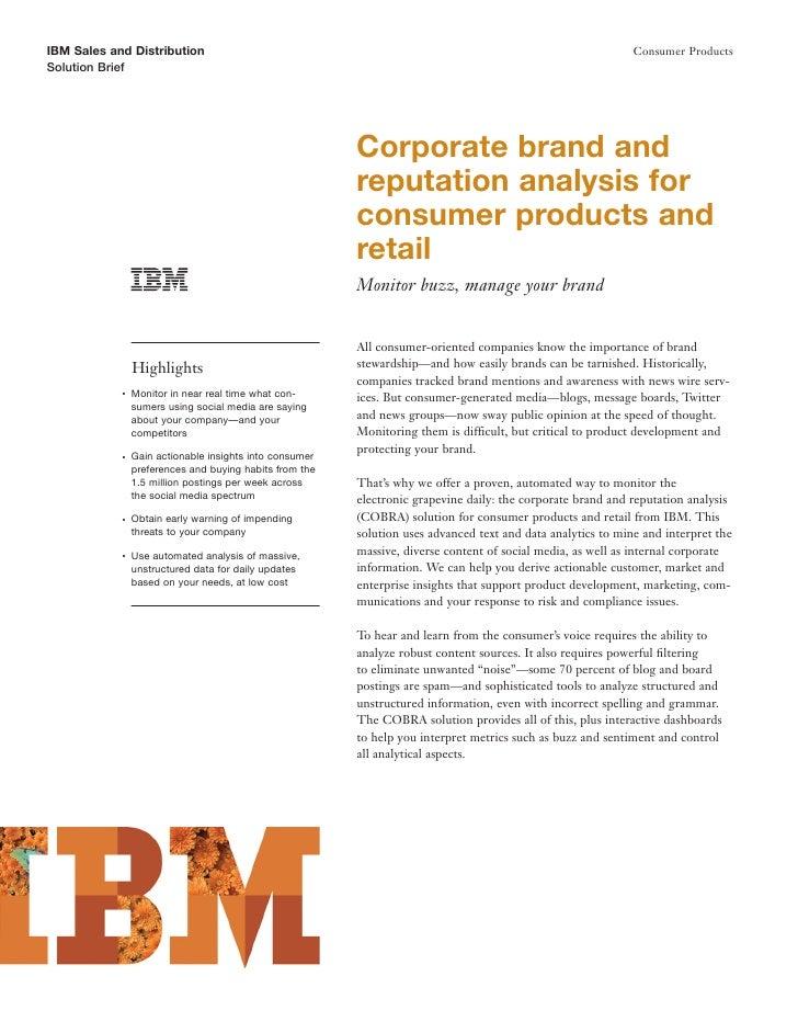 IBM Sales and Distribution                                                                                    Consumer Pro...