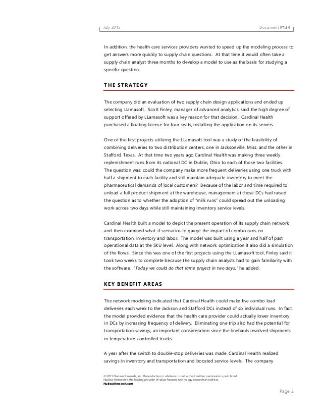 case study cardinal health Case study outlining the processes of how chally helped cardinal health conduct a talent audit and transform their sales hiring processes.