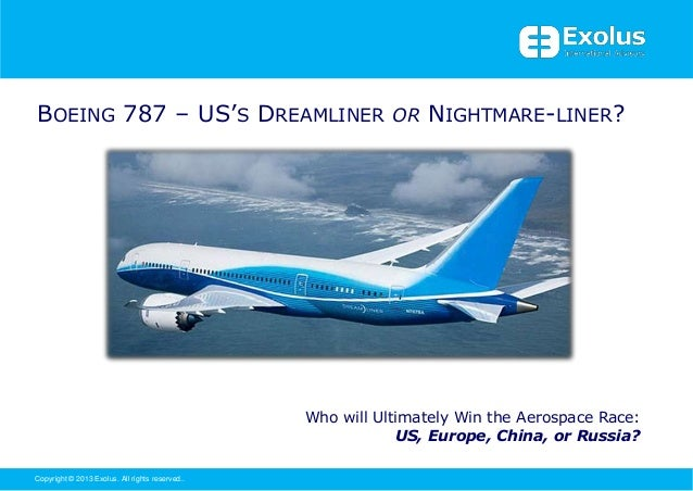 BOEING 787 – US'S DREAMLINER OR NIGHTMARE-LINER?                                                 Who will Ultimately Win t...