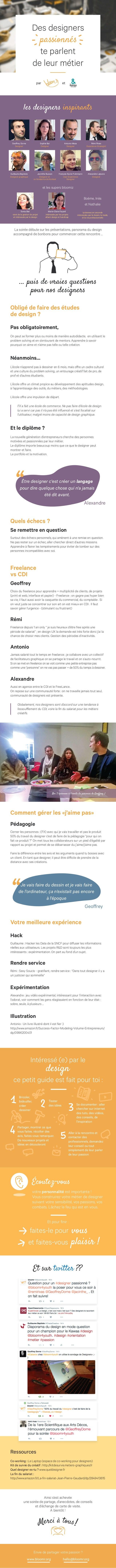 les designers inspirants et les supers bloomiz Boème, Inès et Nathalie vient de la gestion de projet et intéressée par le ...