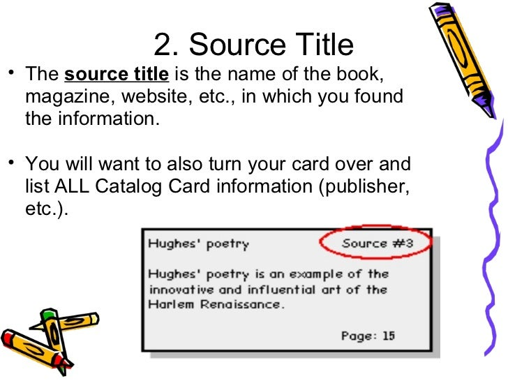 notecard for research paper mla Make a source card for each source you will be using sources can be books,  articles clipped and stored in the vertical file, pamphlets, and of course, a  computer.