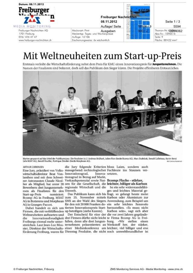 Freiburger Nachrichten 08:11:2012