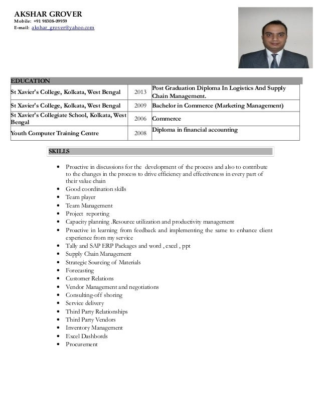 Purchase store resume