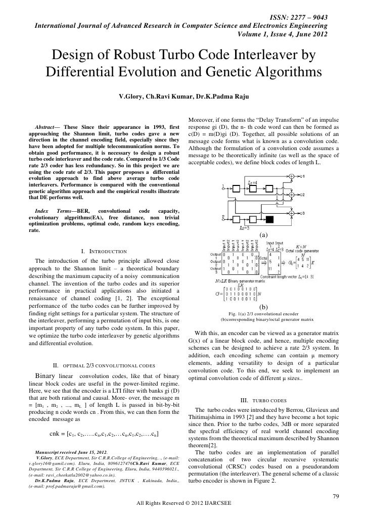 ISSN: 2277 – 9043    International Journal of Advanced Research in Computer Science and Electronics Engineering           ...