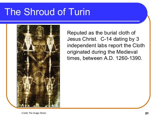 Shroud of turin second carbon dating