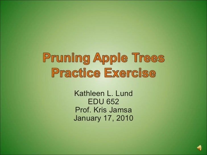 Pruning Apple Trees Practice Exercise
