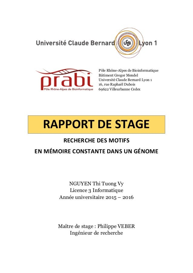 Pôle Rhône-Alpes de Bioinformatique Bâtiment Gregor Mendel Université Claude Bernard Lyon 1 16, rue Raphaël Dubois 69622 V...