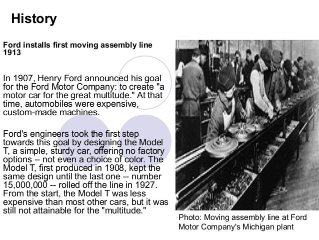 henry ford essay the first assembly line