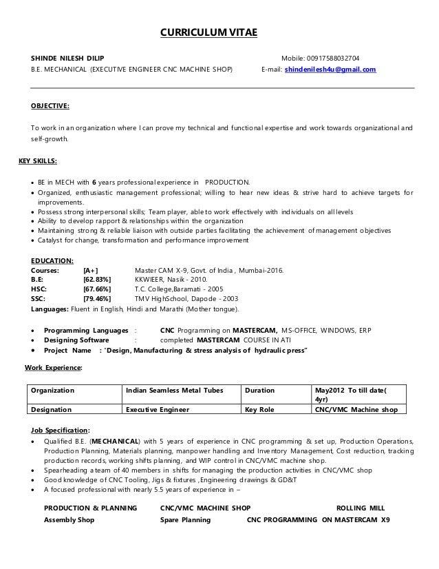 nilesh shinde resume