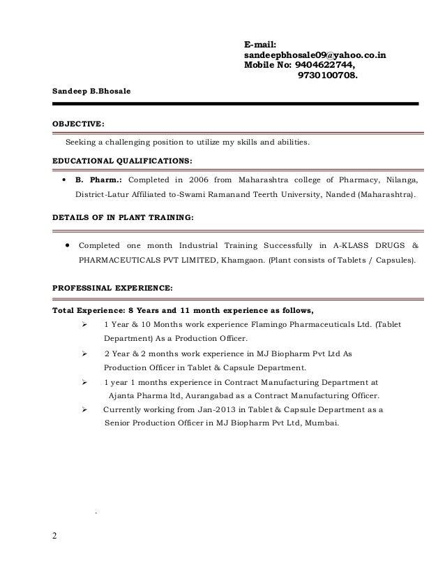 resume sandeep