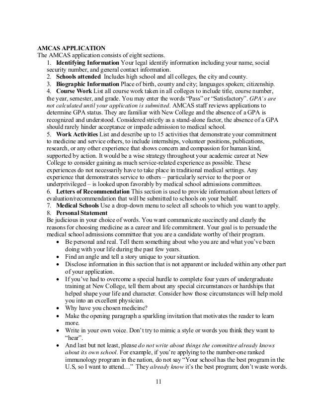 Idea for Pre-Med Application essay?