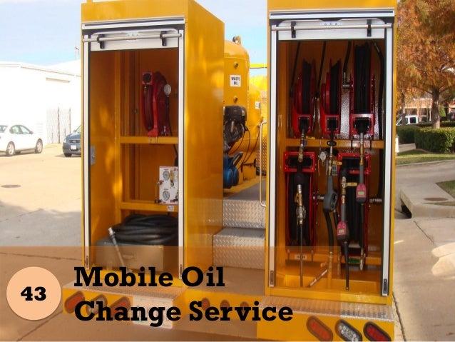 Business plan mobile oil change
