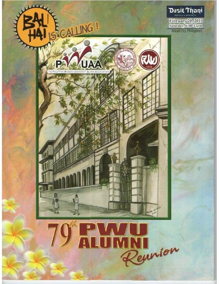 79th PWUAA Souvenir Program [Scanned]