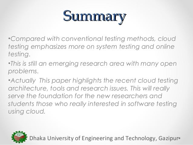 Research papers in software testing