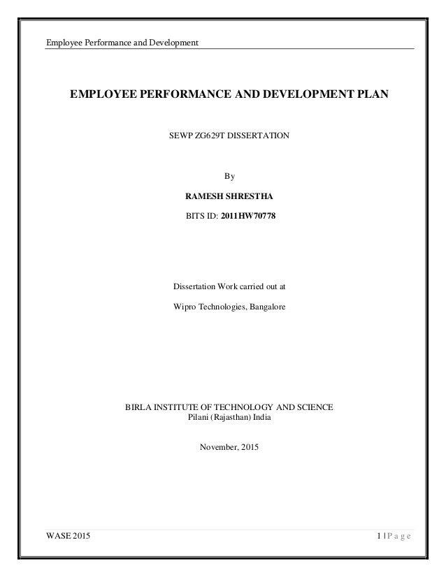 Dissertation job performance