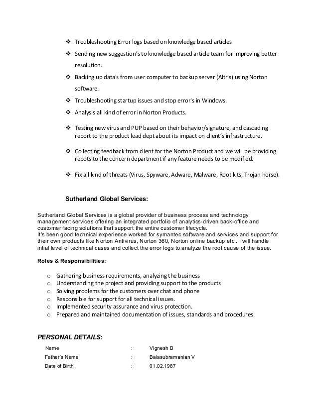 vignesh resume