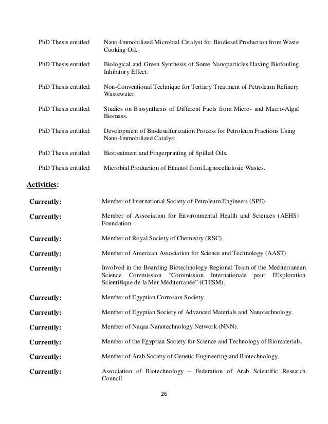 Phd thesis on biodegradation