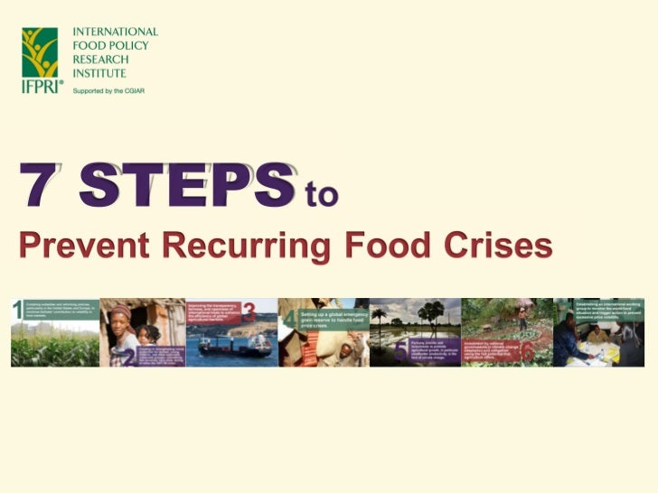 Seven key initiatives for preventing a recurring food crisis