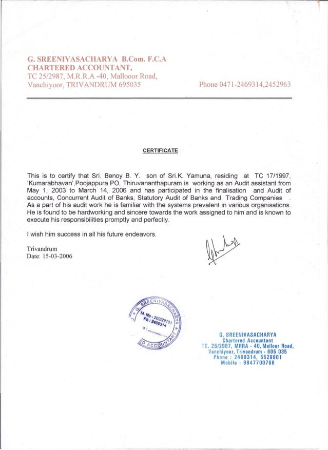 SREENIVASACHARYA B.Com. F.C.ACHARTERED ACCOUNTANT,TC 25/2987, M.R.R ...