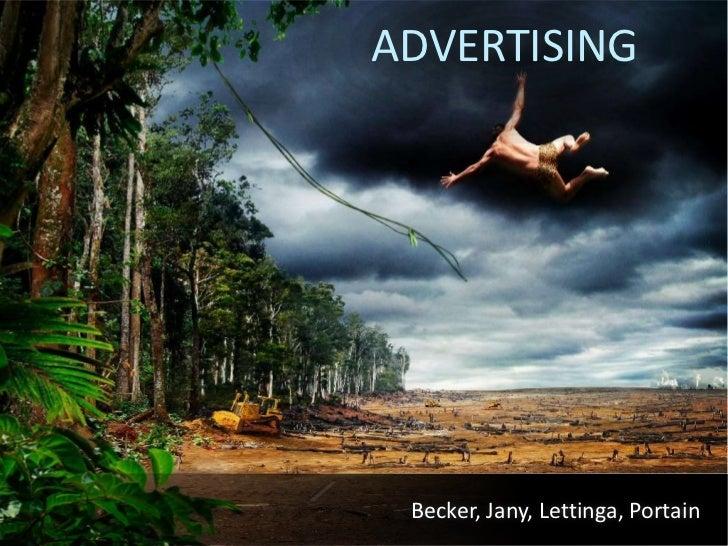 ADVERTISING      Becker, Jany, Lettinga, Portain