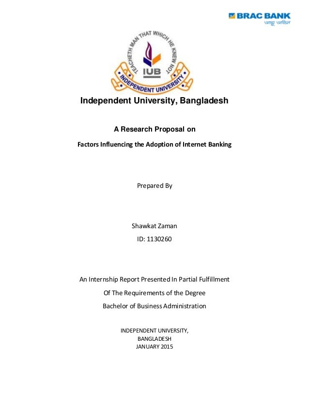 Dissertation proposal on internet banking