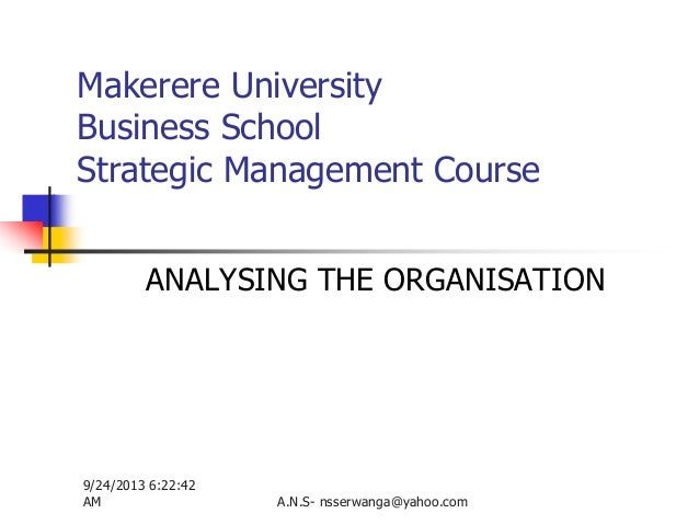 7 analysing the organisation handout