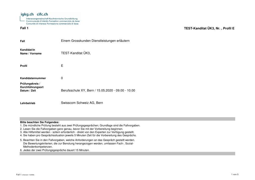 Fall 1                                                                                              TEST-Kanditat ÜK3, Nr....