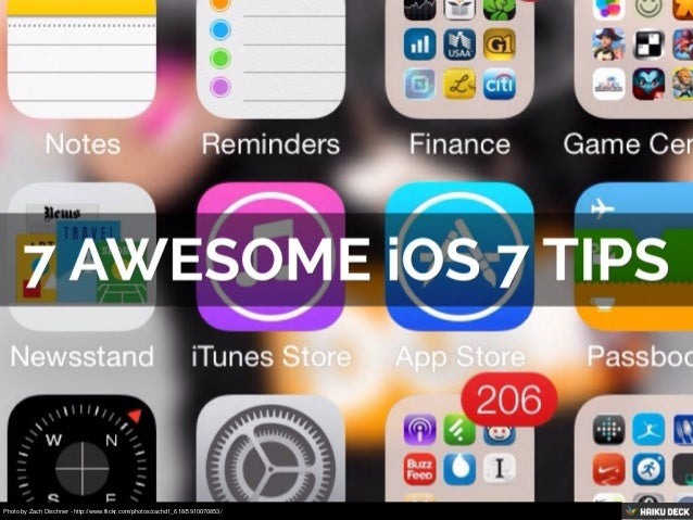 7 Awesome iOS 7 Tips