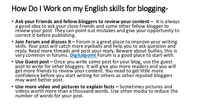 How can I improve my English skill?