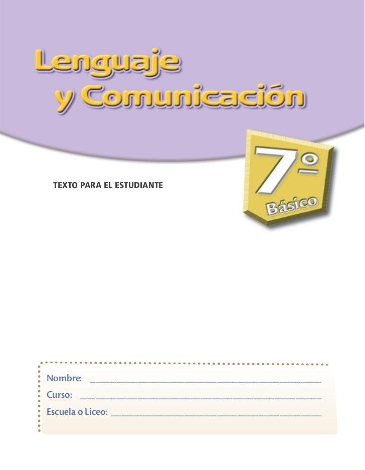 7 basico   lenguaje - mn - estudiante