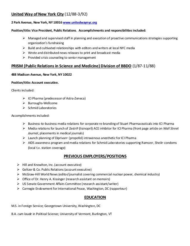 Vp Public Relations Resume Magazine 3