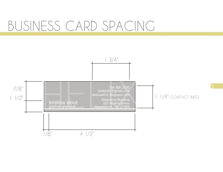 7 business card spacing