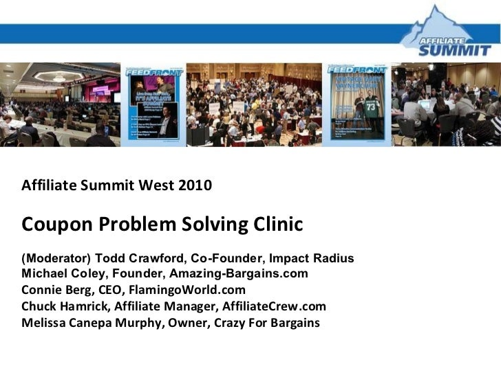 Coupon Problem Solving Clinic