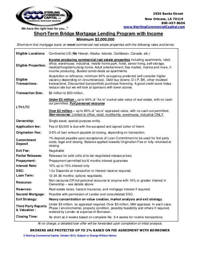 Bridge Loan Agreement Template